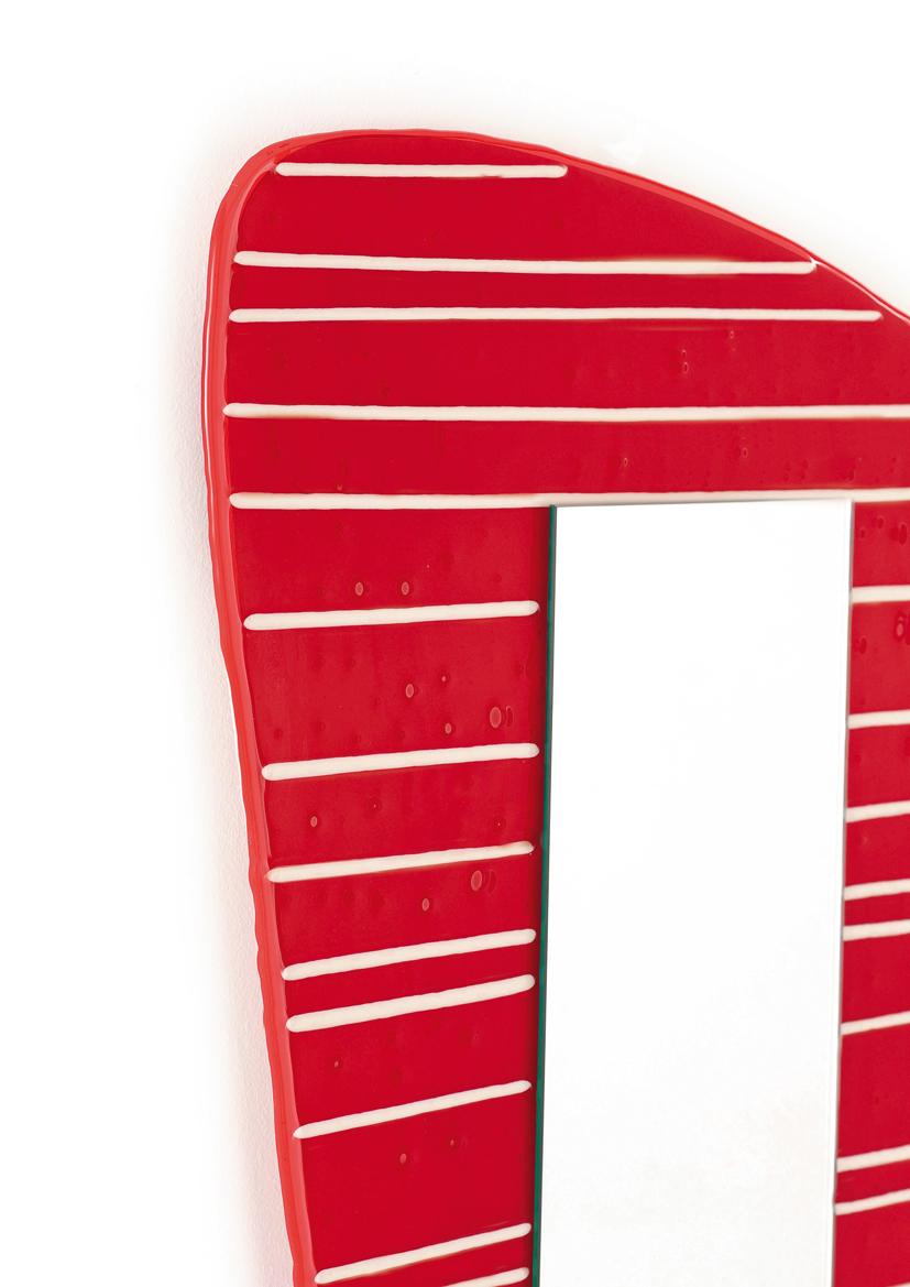 Specchio stripes colori a scelta murano glass il vetraio - Colori a specchio ...